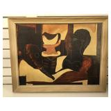 Picasso print on board, frame size 26 1/2 x 20