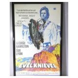1971 Evel Knievel poster, framed to 27 x 42