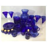Cobalt blue glass kitchenware