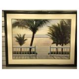 Diane Romanella framed & matted print, framed to