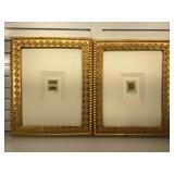 2 pencil signed original mixed media, framed &