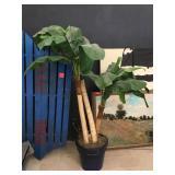 Prop pump tree w/pot, approx 7 ft tall