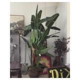 Decorative prop tropical plant w/pot, Approx 9ft