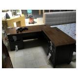 Wooden corner desk by Wayfair -some damage, needs