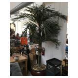 Prop Tropical tree w/pot, approx 9 ft tall