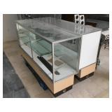 Pair of display cabinet w/shelves, lighted