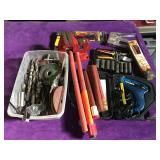 Lot of assorted tool items - large drill bits,