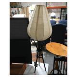Modern 3 legged table lamp with fabric shade