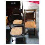Lot of 3 vintage folding chairs
