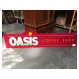 94 inch long original plexiglass sign from Oasis