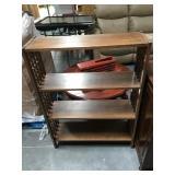 44 in tall wooden shelf