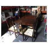 Vintage solid wood dining table with 12 chairs, 2