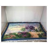 Thomas Kinkade lap blanket/tapestry