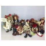 Vintage rag dolls