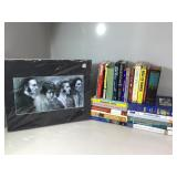 Hardcover books, softcover books & matted Beatles