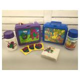 Vintage Sesame Street lunch box & thermos &