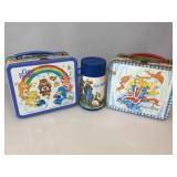 Vintage metal Junior Miss lunch box & thermos,