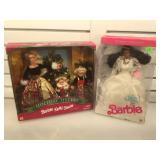 Barbie wedding fantasy & holiday sisters, both in