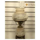Vintage hurricane lamp, Approx 19 1/2 inches tall