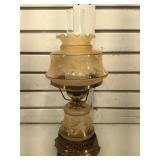 Vintage hurricane lamp, Approx 17 inches tall