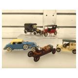 5 die-cast vintage cars