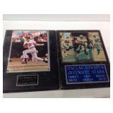 2 sports plaques cal Ripken jr & cowboys