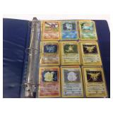 Pokémon cards in album