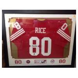 Jerry rice framed auto jersey jsa certified