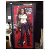Huge Danica Patrick framed stand out autographed