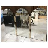 Wall hanging arch shape mirror, approx 64x42