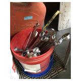 Bucket of large size wrenches - up to 1.5 inches