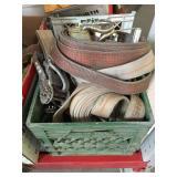 Lot of heavy duty ratchet straps