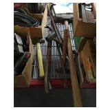 Lot of sledge hammers and crowbars