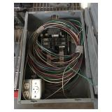 Breaker panel with wiring