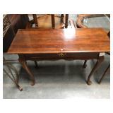 Wood Mersman Waldron hall table with drawer - has