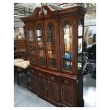 Lighted china hutch with glass shelves - approx.