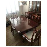 Wood dining table with 5 chairs