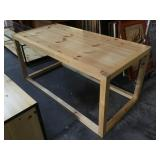 Solid Pinewood table, approx 73x35x34 inches