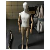 Male mannequin w/ wooden articulated arms