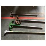 Lot of pipe benders - half inch to 1.25 inch