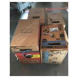 Lot of Cat5e, Cat6, Cat3 and other cable in boxes