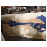 Triptych painting on canvases - 91x48 total