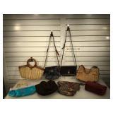 Ladies handbags, some leather