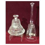 Waterford crystal bell & Mikasa crystal