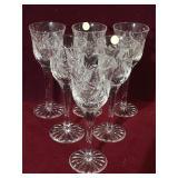 6 piece crystal bohemian crystal cordial set