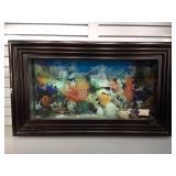 Custom picture frame wall aquarium, 42 x 24 1/2