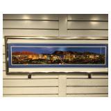 Panoramic Las Vegas strip view print framed to 38