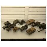 Model military vehicles