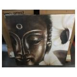 Buddha print on canvas 32 inches square