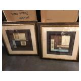 Pair of shadowboxed wood framed Asian prints - 28